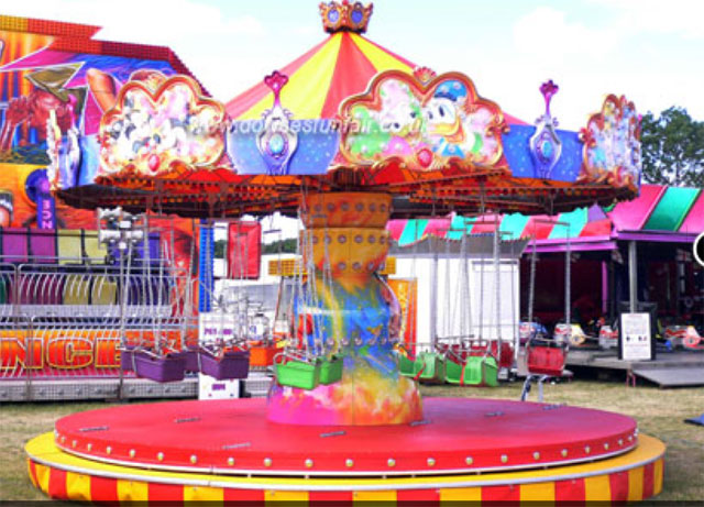 Flying Chairs Kids Funfair Ride For Hire.
